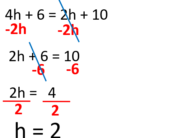 Linear Equations with one variable (letter) on either side of the equals sign
