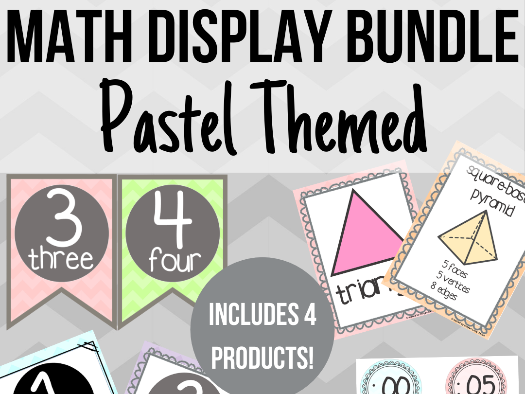 Pastel Math Display Bundle