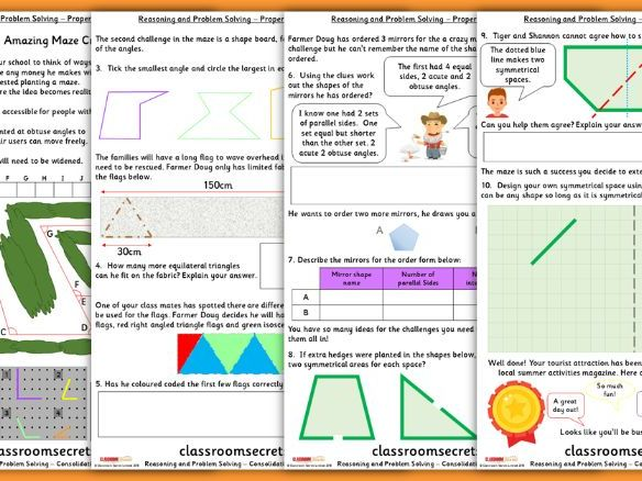 Properties of Shape Consolidation Year 4 Summer Block 5 Reasoning and Problem Solving
