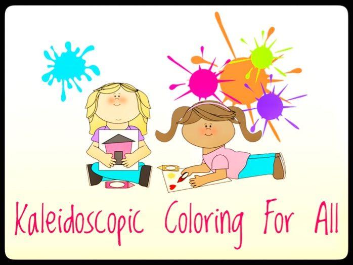 Coloring. Kaleidoscopic Coloring Book