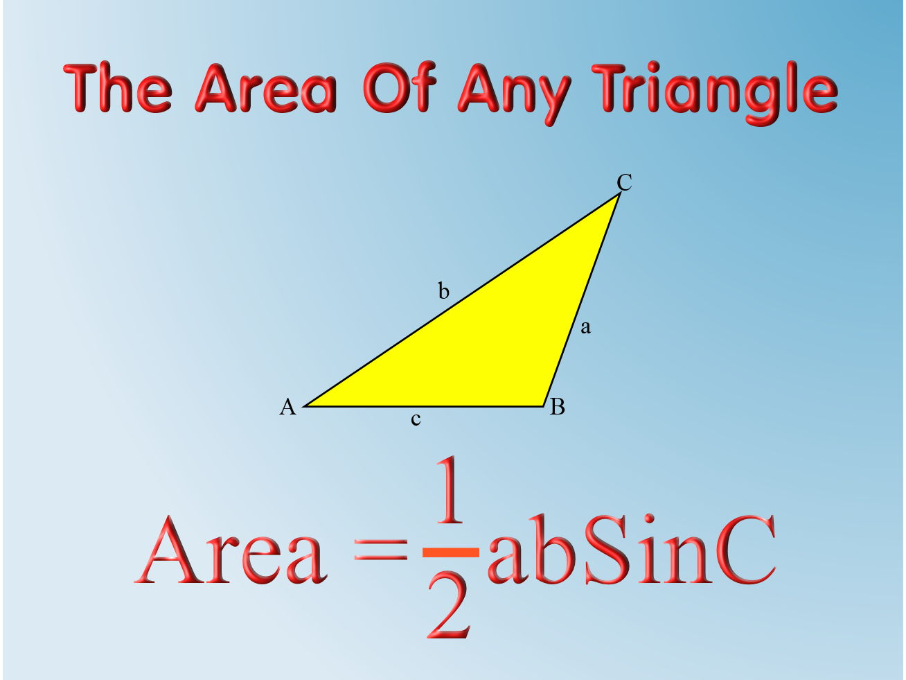 Higher Level GCSE Trigonometry - including Area