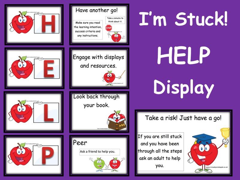 Help I'm Stuck Display - When Children are stuck HELP Reminder