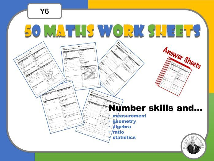 Maths  Weekly Worksheets Y6.