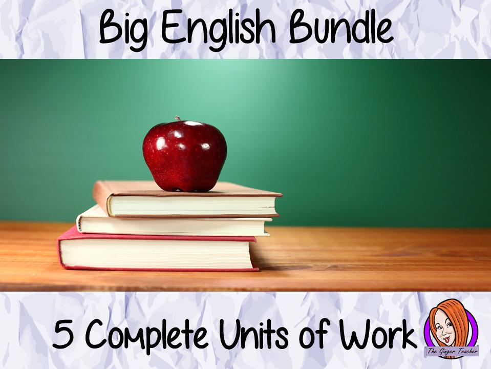 KS1-2 literacy Big English Bundle