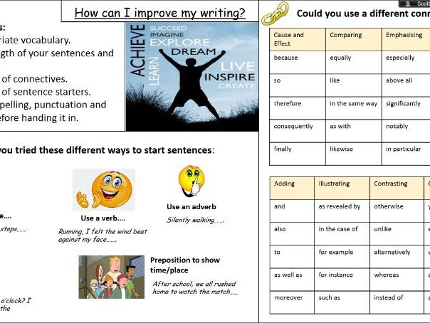 Literacy Placemats - How can I improve my writing?