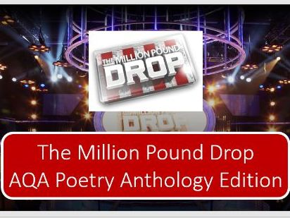 AQA Poetry Anthology Million Pound Drop!
