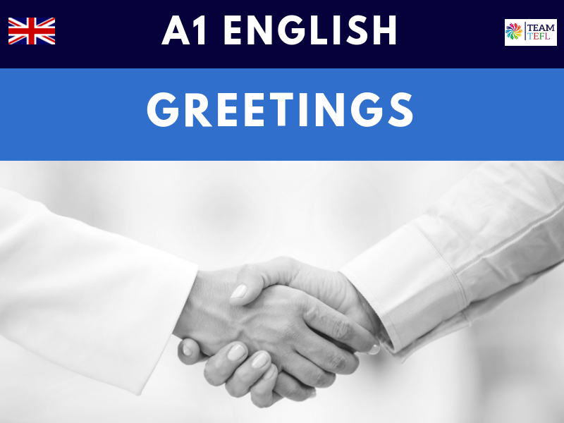 Greetings A1 Beginner ESL Lesson Plan
