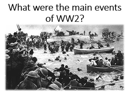 What were the main events of WW2?