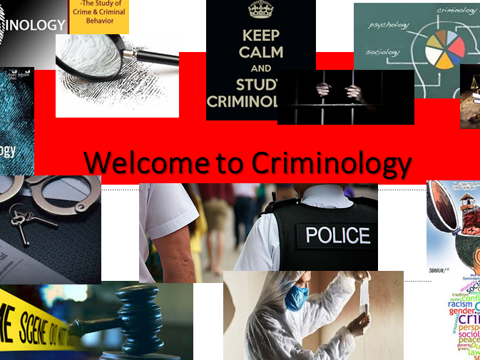 Criminology - A Quick Short and Sweet PP for Open Day