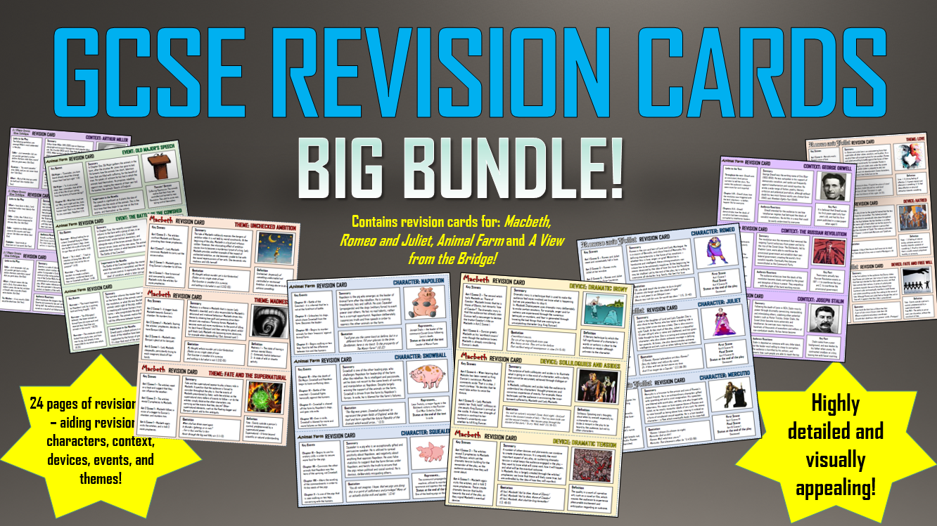 GCSE Revision Cards Big Bundle!