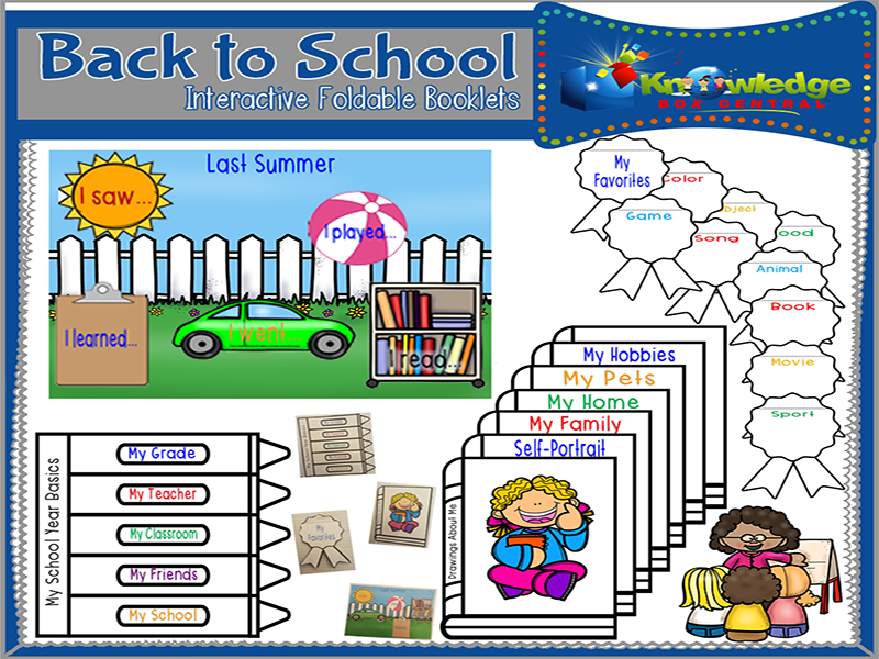 Back to School Interactive Foldable Booklets
