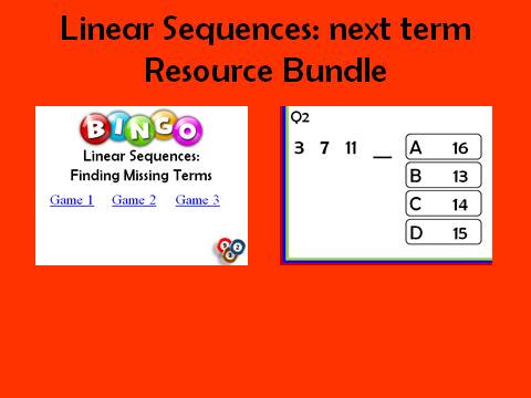 Linear Sequences_next term: 2 resources