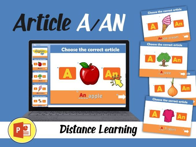 Article A/AN - game (Distance Learning)