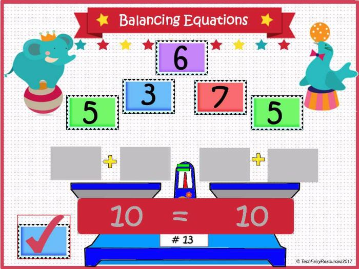 Balancing Equations: Activinspire