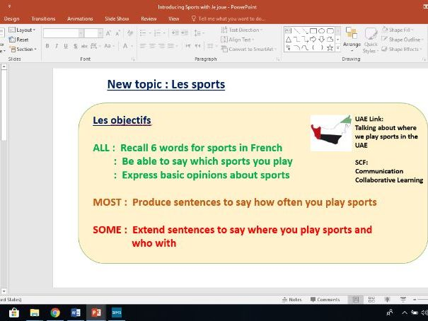 Introducing sports with Je joue au...