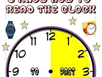 A4 Poster Telling the time