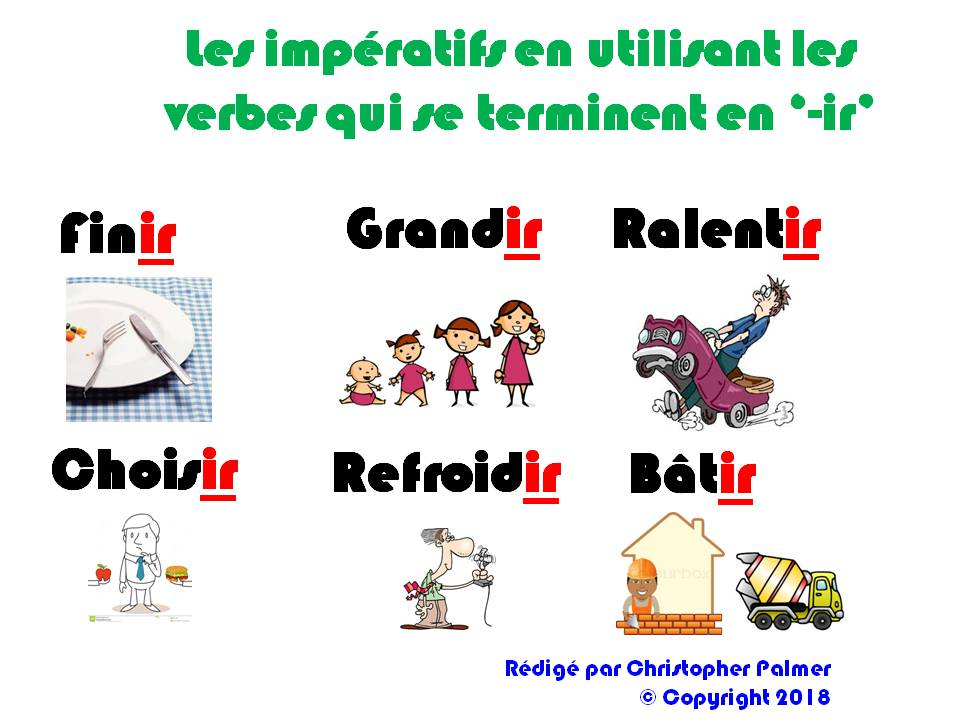French: The imperative using '-ir' verbs (Key Stage 3)