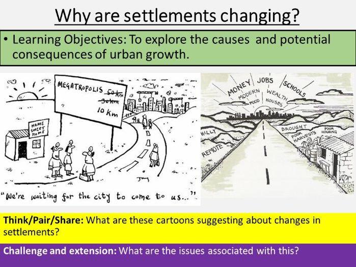 Urban Growth Lesson (Setlemenet KS3)