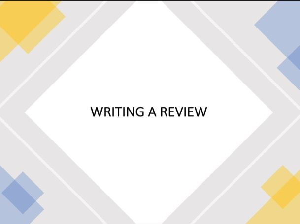 Writing a Review Lesson 1 (IGCSE English as a Second Language)