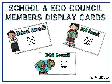 SCHOOL & ECO COUNCIL MEMBERS DISPALY CARDS - MELONHEADZ