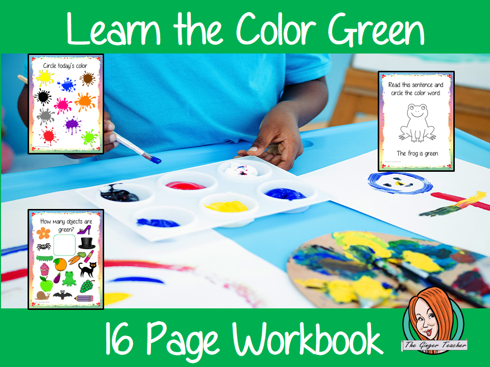 Color 'Green' 16 Page Workbook