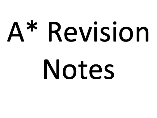 A* AQA A-Level Biology (New Specification) Revision notes - Unit 1 - Biological Molecules