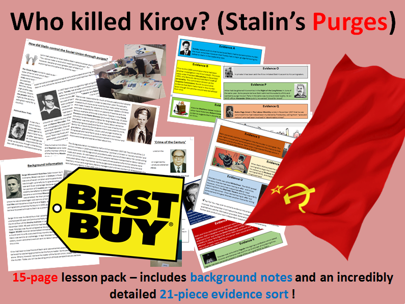 Stalin's purges - 15 page lesson pack