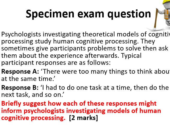 AQA Psychology A Level Approaches: Cognitive Approach