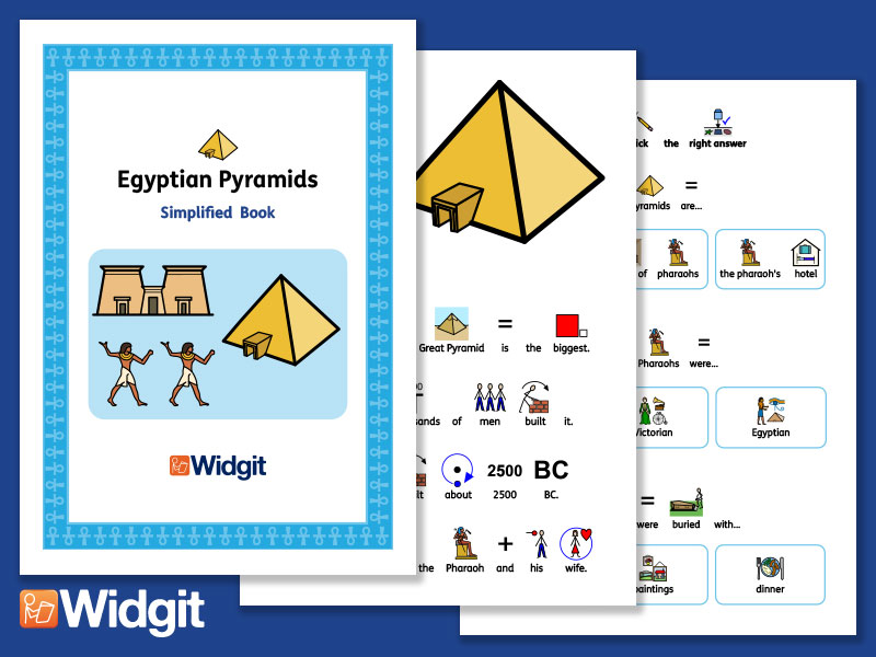 Egyptian Pyramids - History Book and Activities with Widgit Symbols