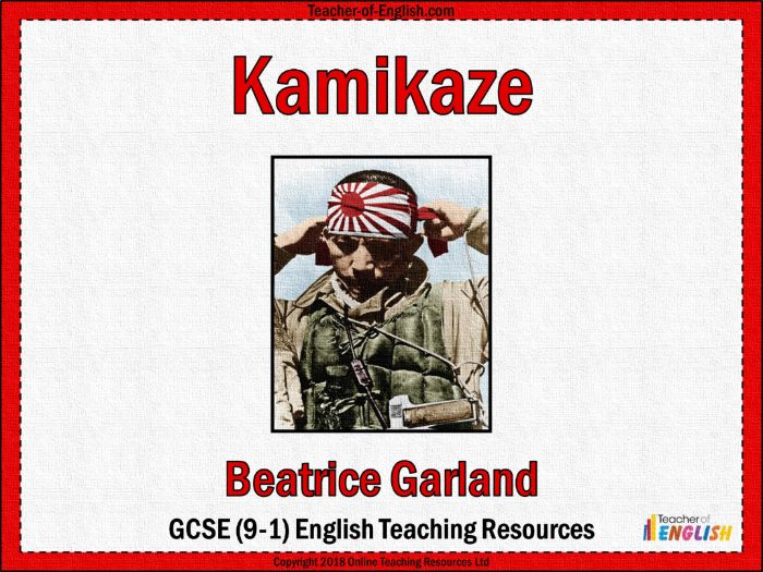 Kamikaze Beatrice Garland (PowerPoint and worksheets)