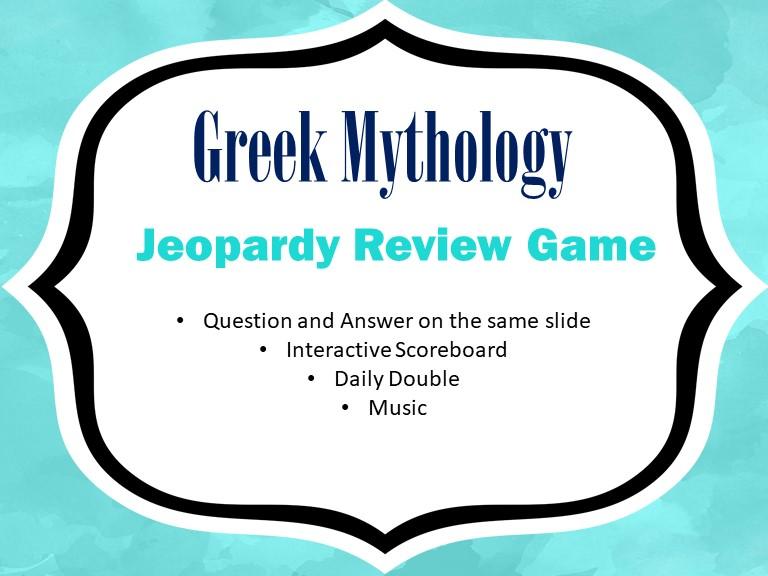 Greek Mythology Reviw Game