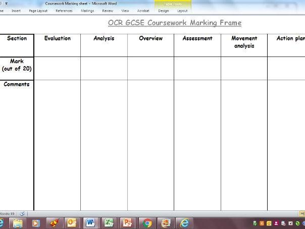 gcse coursework pe