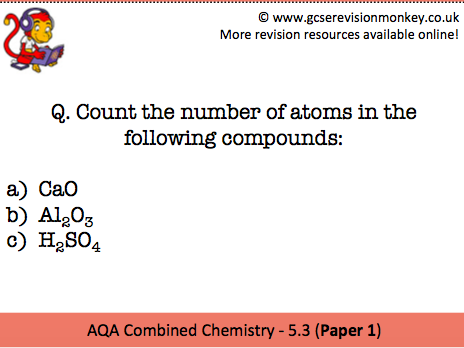 Revision Cards - AQA Combined Chemistry 5.3