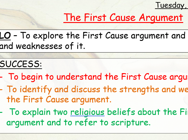 The First Cause Argument - AQA Religious Studies - Cosmological Argument