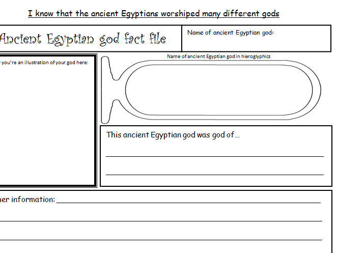 Ancient Egyptian God Fact File