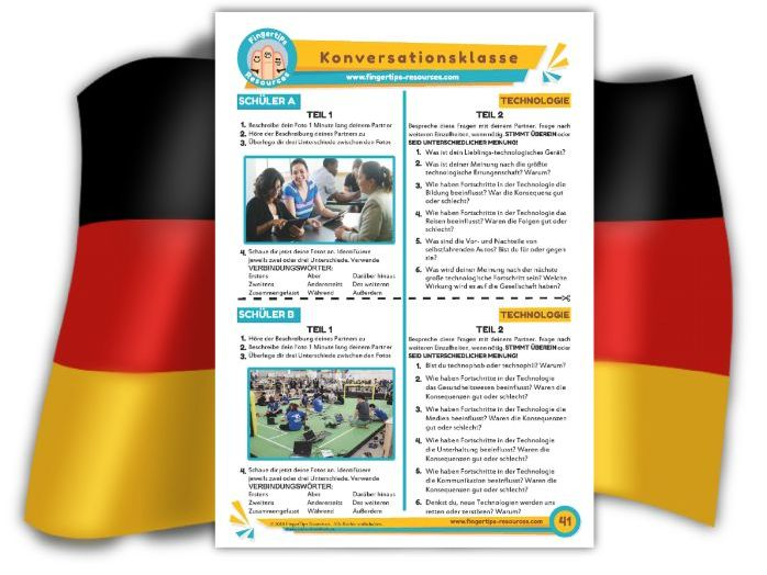 Technologie - German Speaking Activity