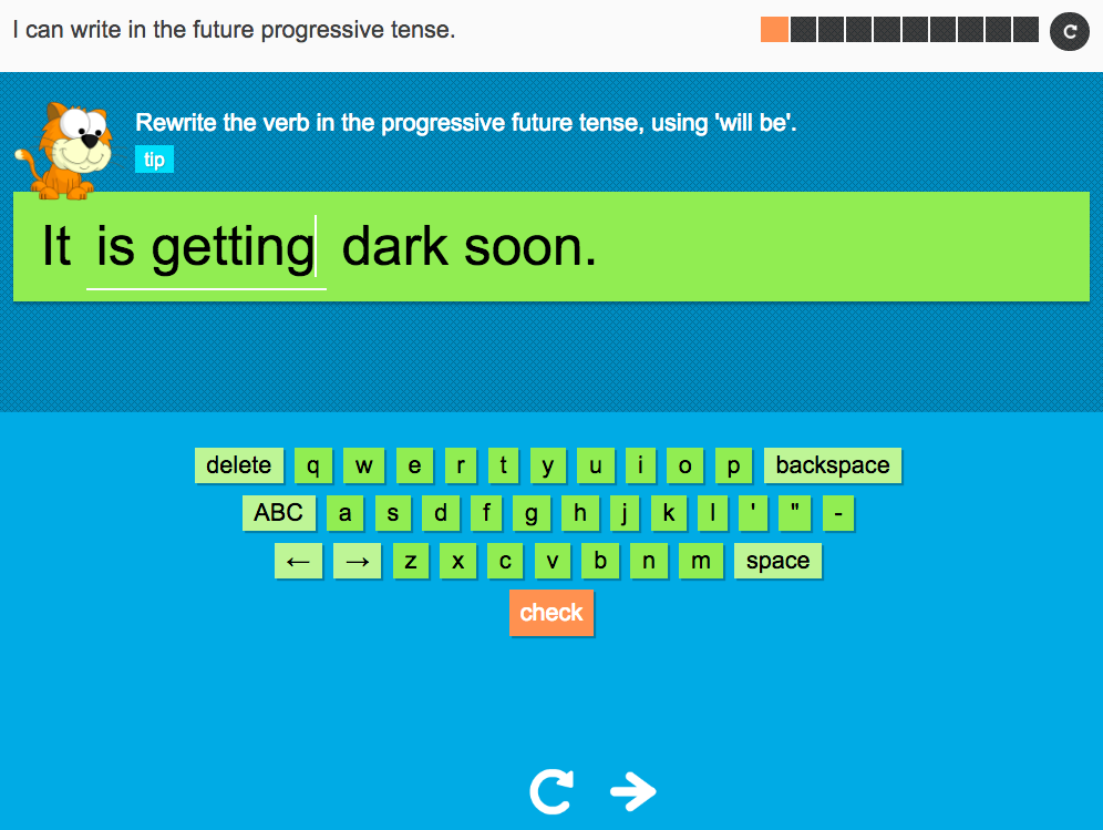 I can write in the future progressive tense - Interactive Activity - Year 3 Spag