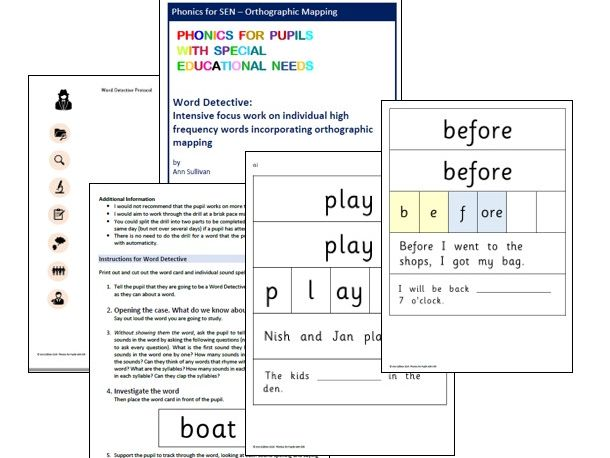 Word Detective - Orthographic Mapping HF Words for Automaticity - Phonics for SEN