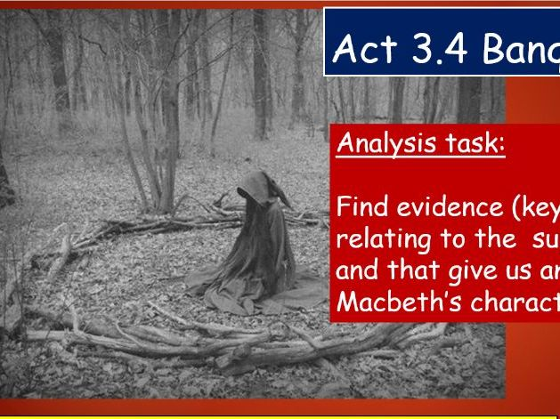 KS4 GCSE Macbeth Act 3 Scene 4