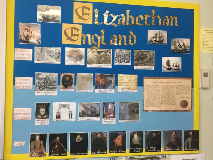 Early Elizabethan England GCSE Display