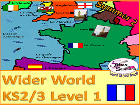 PRIMARY FRENCH UNIT (KS2/3): France, Spain, UK countries, capitals, nationalities & compass points