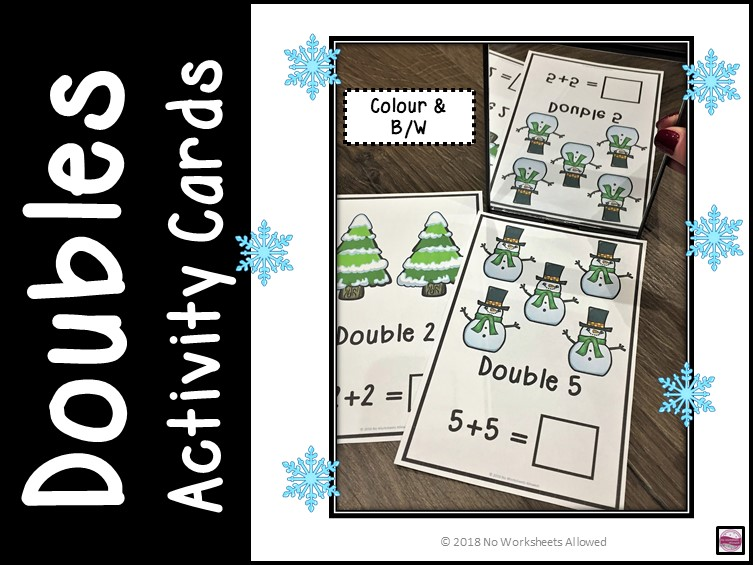 Maths Doubles Addition Activity and Recording Sheets - Winter Theme