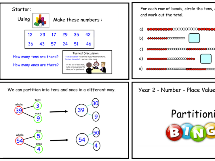 Year 2 Number - Place Value - Partitioning into Tens and Ones (Smartbook)