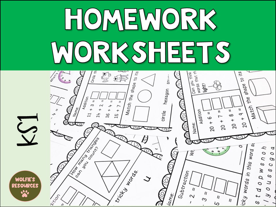 Year 1 Homework Home Learning Activities