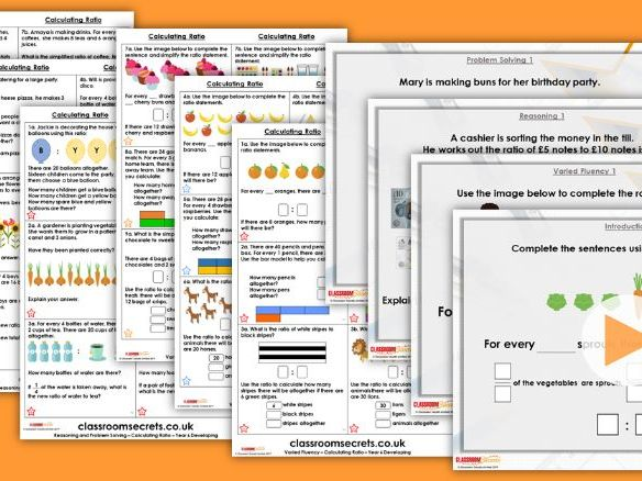 Year 6 Calculating Ratio Spring Block 6 Step 4 Maths Lesson Pack