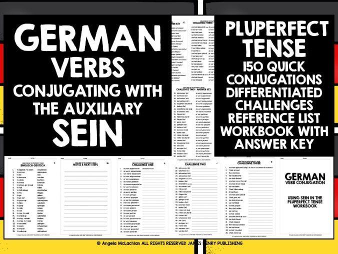GERMAN VERBS SEIN IN PLUPERFECT TENSE