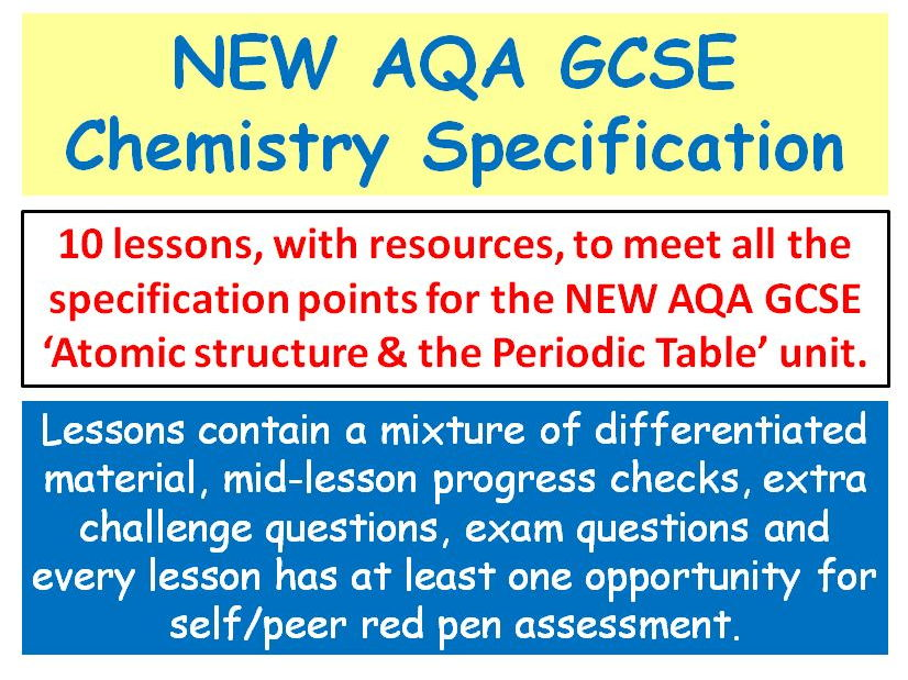new aqa gcse chemistry atomic structure the periodic table lessons by swiftscience teaching resources tes