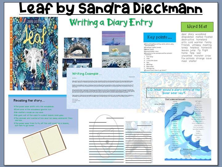 Leaf by Sandra Dieckmann: Writing a Diary Entry