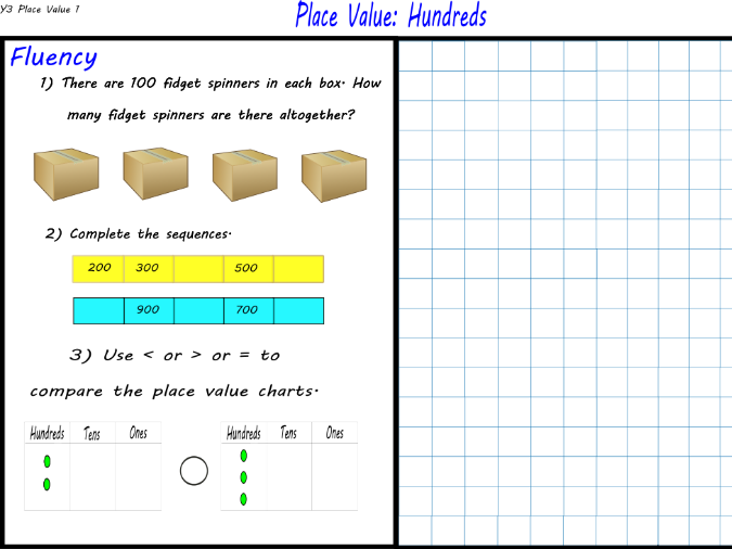 Year 3 - Place Value: Hundreds - Maths Mastery