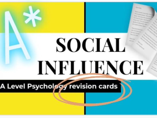 Psychology Social influence revision cards